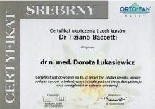 Dorota Łukasiewicz Certyfikat Tiziano Baccetti