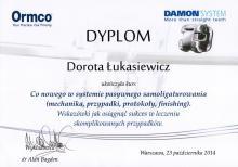 Dorota Łukasiewicz Certyfikat Damon System