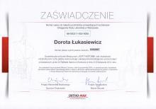 Dorota Łukasiewicz Zaświadczenie Kortykotomia