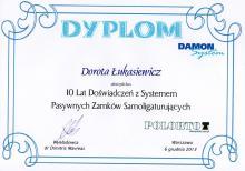 Dorota Łukasiewicz Certyfikat Damon System 2
