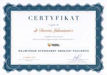 Dorota Łukasiewicz Najwyższe standardy obsługi pacjenta